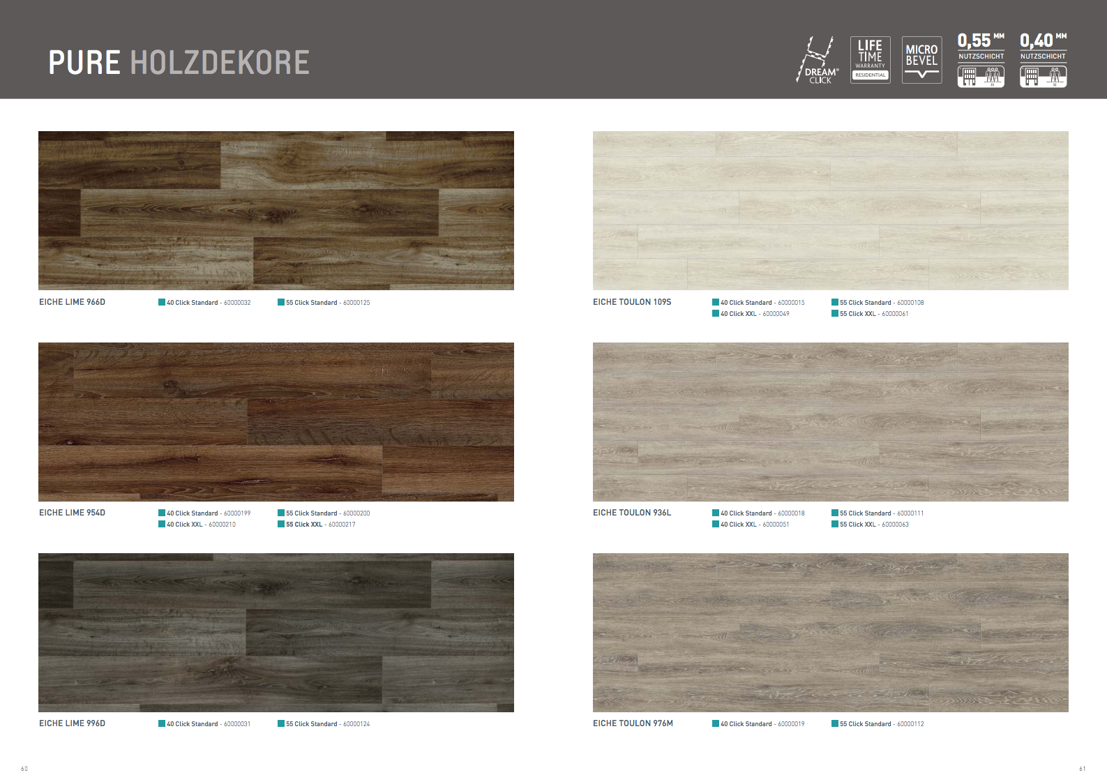 berryAlloc PURE Click Designbelag mit rustikalen Holzdekoren