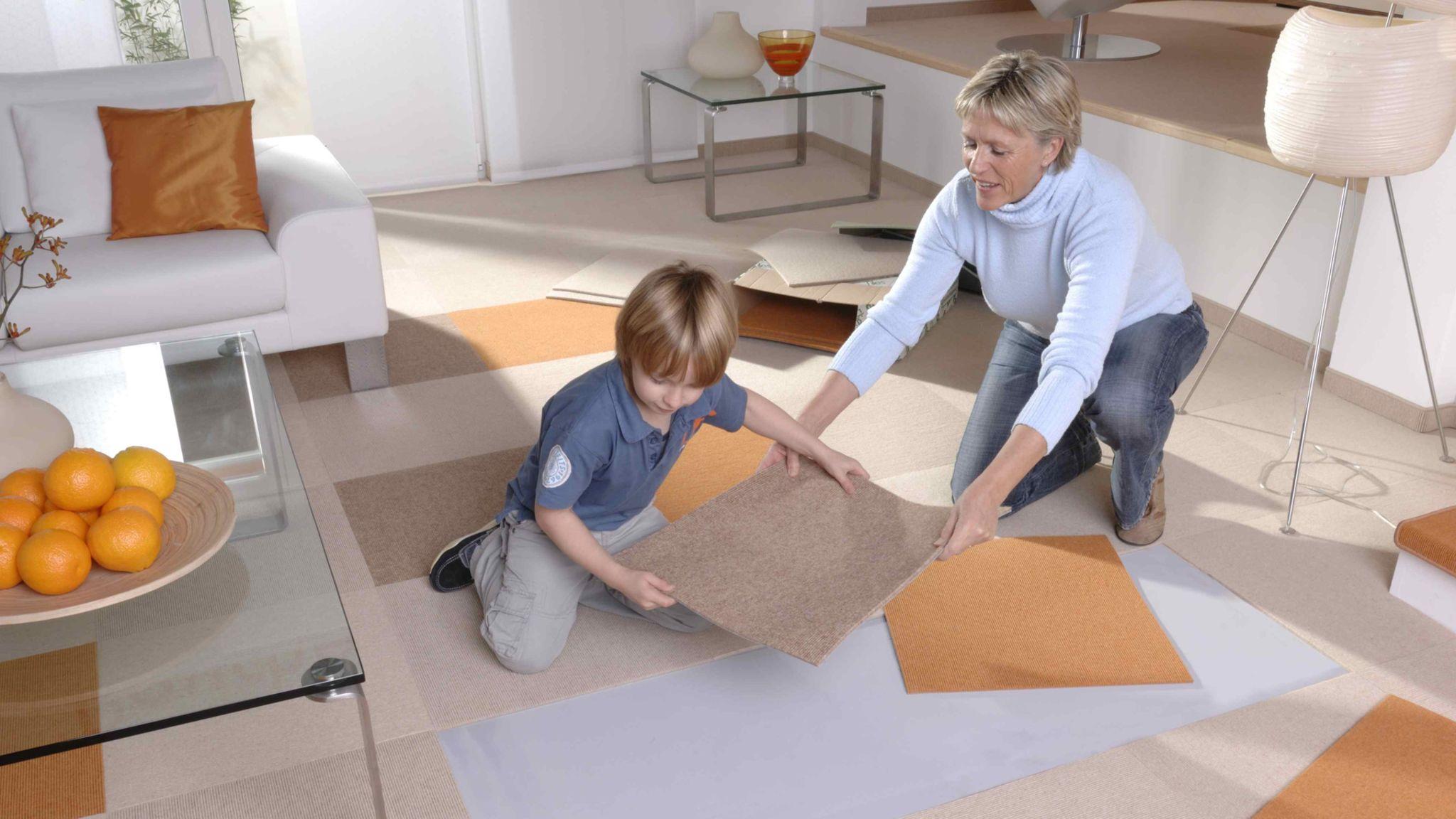 Teppichfliesen Kreative Raumgestaltung Mit Teppich Teppichboden